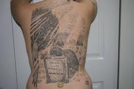 tombstone death tattoo design angel devil death horror tattoos