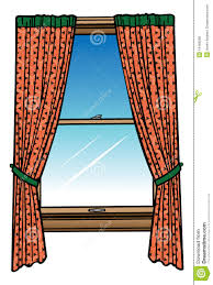 Curtain Cartoon by Window And Curtains Royalty Free Stock Photos Image 16468298