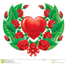 the wreath of roses valentine u0027s day stock photography image