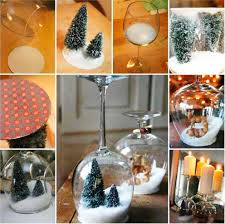 wine glass snow globes wonderful diy stemware snow globes candle holder