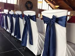 navy blue chair sashes events rogers mn wedding reception