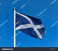 Scotland Flags Scottish Flag This One Scottish Flags Stock Photo 175343594