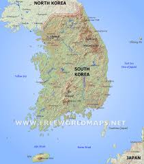 Southwest Asia Physical Map South Korea Physical Map