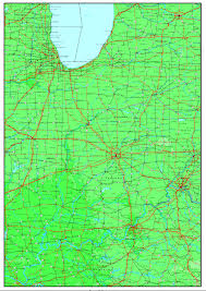 Lafayette Indiana Map Indiana Base Map