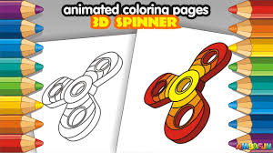 how to draw 3d fidget spinner coloring pages kids coloring book