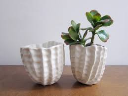 Small Flower Pot by White Ceramic Planter Indoor Flower Pot Small Succulent