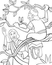 Zacchaeus Come Down Coloring Page Zacchaeus Coloring Page