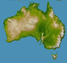 Seven Continents Map Australia