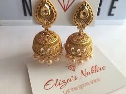 kempu earrings gold toned glass imitation pearl kempu earrings
