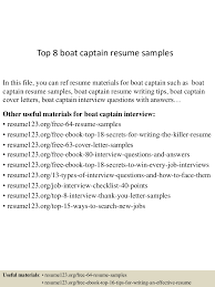 Winning Resume Examples by Top8boatcaptainresumesamples 150528050950 Lva1 App6892 Thumbnail 4 Jpg Cb U003d1432789838