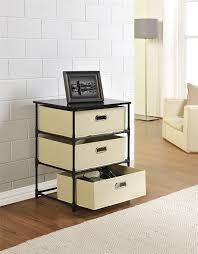 Storage End Table Amazon Com Altra Sidney 3 Bin Storage End Table Black Kitchen