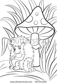 coloring pages hedgehog cute baby stock illustration