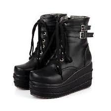 womens size 12 black combat boots boots ebay