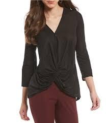 brown blouse antonio melani s casual dressy tops blouses dillards