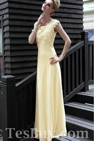 modest formal dresses for juniors rhinestone ruched floor length modest flattering yellow