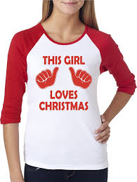 christmas shirts womens this girl christmas raglan shirt