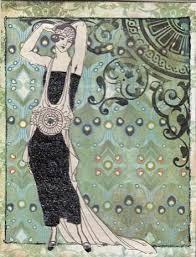 eclectic archivist art deco birthday card