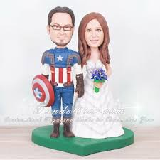 captain america cake topper america cake topper with groom and in a wedding gown
