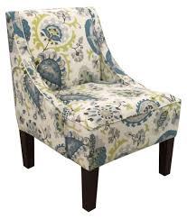 skyline swoop arm chair ladbroke peacock hayneedle