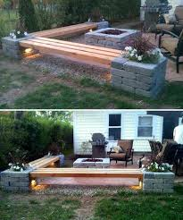 patio bench diy backyard stone bench ideas diy old chair tree