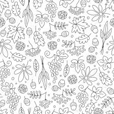 background for thanksgiving seamless pattern with grapes acorns leaves and flowers