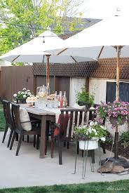 Potted Plant Ideas For Patio by Furniture Walmart Patio Umbrella With Chaise Lounge And Area Rug