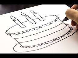 A Birthday Cake How To Draw A Birthday Cake Youtube