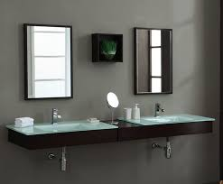 Toronto Bathroom Vanities Modern Blox 86 Inch Floating Bathroom Vanity Set Solid Poplar