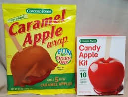 caramel apple wraps where to buy concord foods caramel apple wraps makes 5 and candy apple kit
