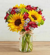 jar flowers sunflowers fields jar flowers in bunches pleasanton florists