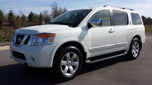 sold 2013 nissan armada sl trim 4x2 pearl white 12k for sale call