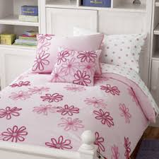 girls bedding girls pink flower bedding comforter set twin pink