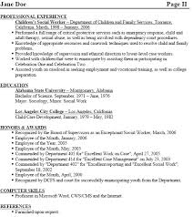 Example Of Social Work Resume by Objective For Social Work Resume Template Billybullock Us