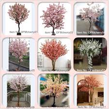 2016 factory wholesale lifelike artificial cherry blossom tree