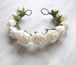 flowers for hair flower girl hair white wreath flower crown for hair bun