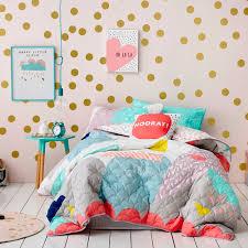 adairs kids ellie bedlinen bedroom quilt covers u0026 coverlets