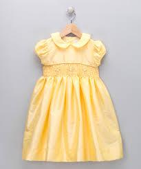 thanksgiving dresses for infants fantaisie kids yellow u0026 gold smocked garden dress infant zulily