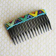 hair combs beaded hair comb finished in south africa