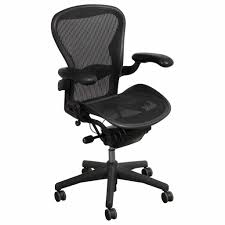 Office Furniture Herman Miller by Herman Miller Aeron Used Size A Leather Arm Task Chair Carbon