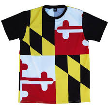 Flag Black Red Yellow Maryland Flag Shooter Shirt By Tribe Lacrosse Tribe Lacrosse