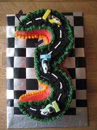 3rd birthday cake for a wheels