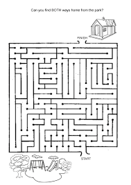 free online printable kids games find the way home maze hard