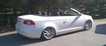 volkswagen convertible eos white vwvortex com 2008 eos highline airride alphards black