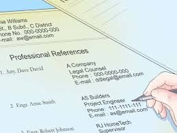 How To Write References In A Resume 5 Ways To List References Wikihow