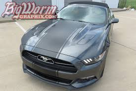 Green Mustang With Black Stripes 2015 17 Mustang Super Snake Style Stripes From Big Worm Graphix