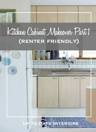 Rental Kitchen Makeover - use contact paper to refinish cabinets temporarily while renting
