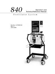 840 ventilator system operator u0027s and technical reference manual