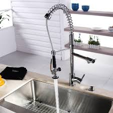 scratch resistant stainless steel sink kraus khf20033kpf1602ksd30ch 33 inch farmhouse single bowl stainless