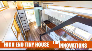 tiny house innovations tiny innovations a high end modern tiny home w stairs youtube