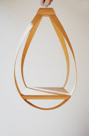 Modern Hanging Planters Vintage Mid Century Modern Planter Teardrop Shape Wooden Hanging